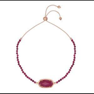 Kendra Scott Maroon Jade Elaina Beaded Bracelet